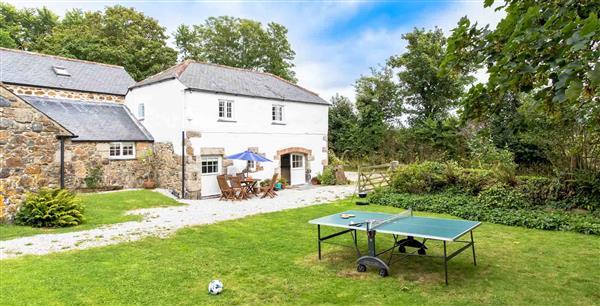 Cob Cottage at Higher Tregidden in Cornwall