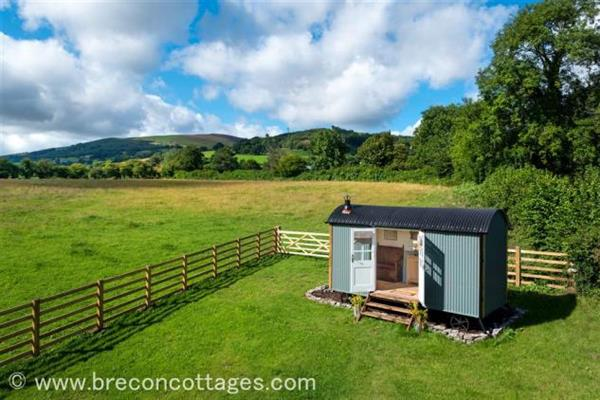 Cui Shepherds Hut in Powys