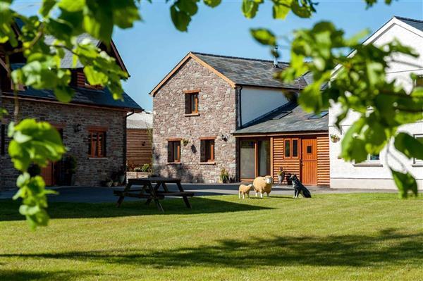 Oak Barn in Crai, Powys