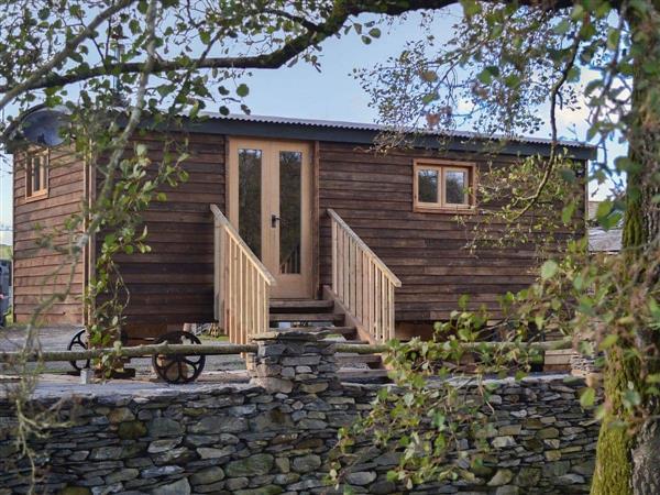 The Shepherds Hut at Gowan Bank Farm in Cumbria