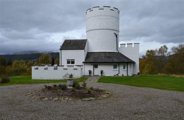 The White Tower of Taymouth Castle in Perthshire