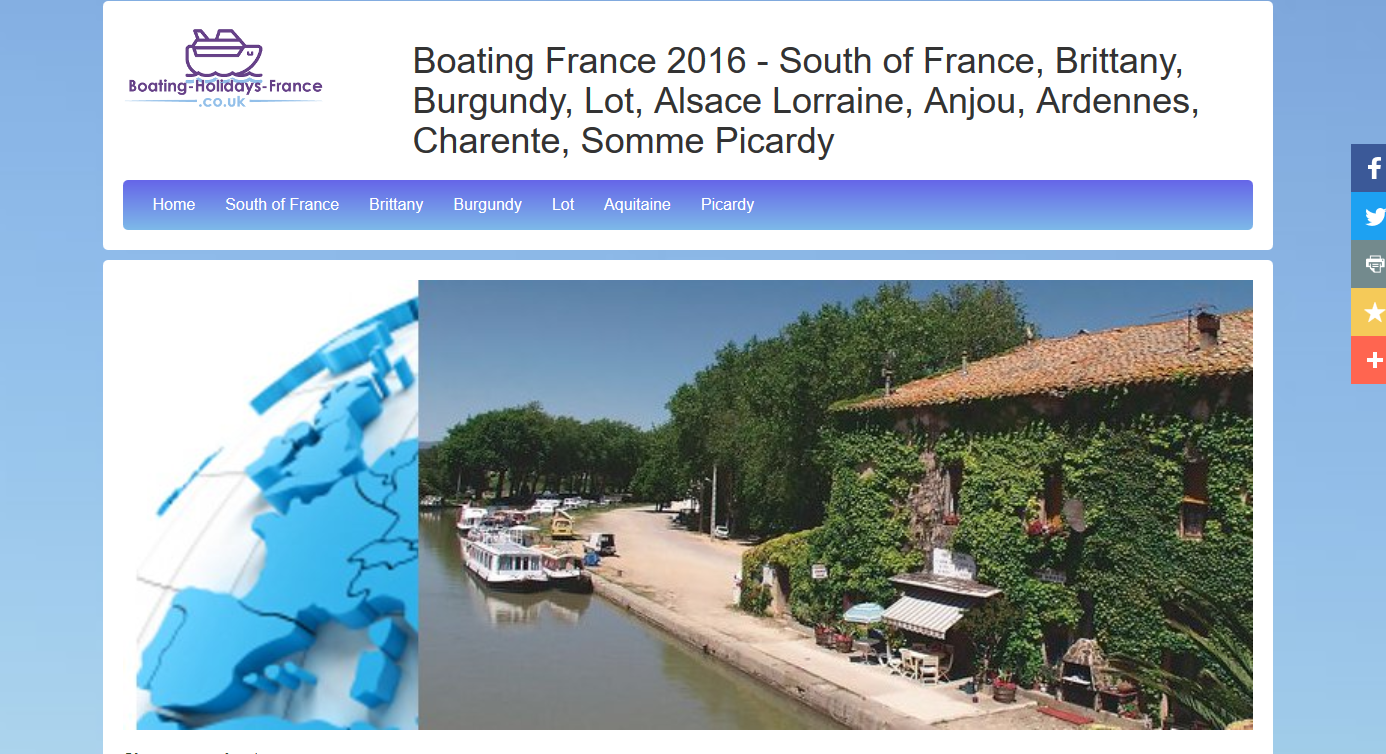 Boating-Holidays-France.co.uk screen